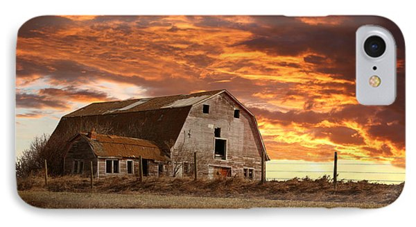 Barn On Highway 21 IPhone Case