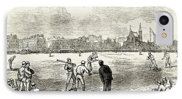 Baseball: England, 1874 Phone Case by Granger