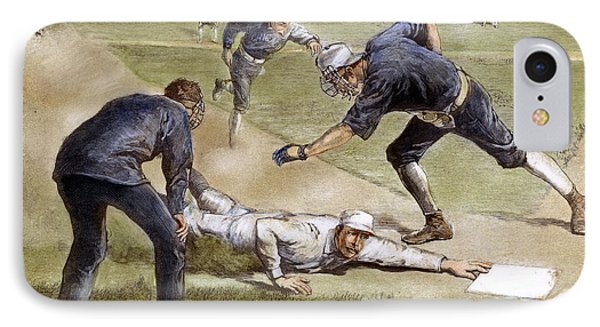 Baseball Game, 1885 Phone Case by Granger