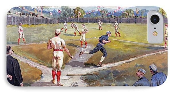 Baseball Game, C1887 Phone Case by Granger