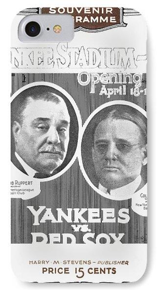 Baseball Program, 1923 Phone Case by Granger