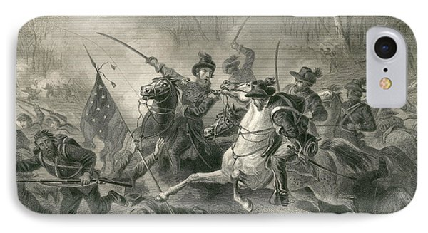 Battle Of Shiloh, Charge Of General Phone Case by Photo Researchers