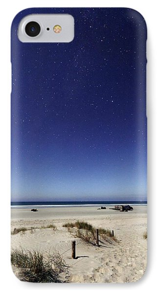 Beach Under A Full Moon Phone Case by Laurent Laveder