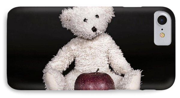Bear And Apple Phone Case by Joana Kruse