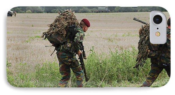 Belgian Paratroopers Red Berets Phone Case by Luc De Jaeger
