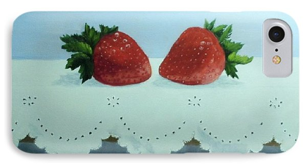 Berries And Lace Phone Case by Peggy Miller
