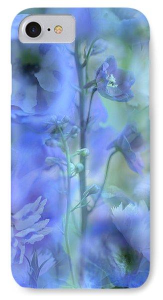 Blue Delphinium Phone Case by Bonnie Bruno