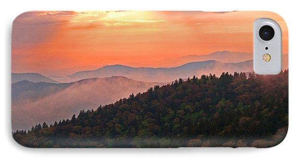 Blue Ridge Sunset Phone Case by Bob and Nancy Kendrick