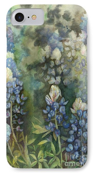 IPhone Case featuring the painting Bluebonnet Blessing by Karen Kennedy Chatham