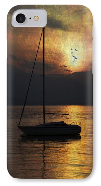 Boat In Sunset Phone Case by Joana Kruse