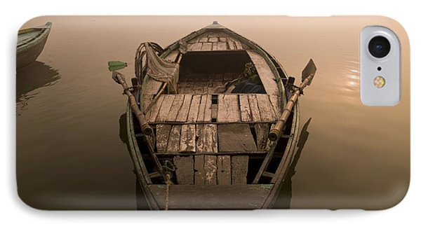 Boat In The Water, Varanasi, India Phone Case by Keith Levit