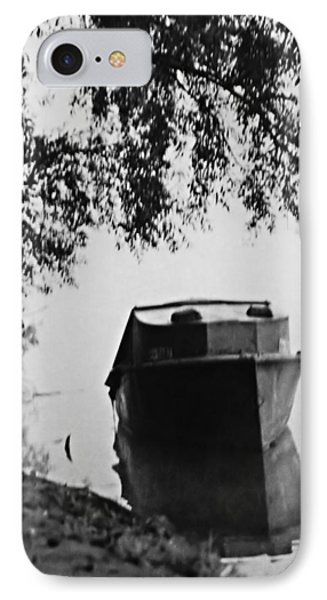 Boat On Foggy Rhine IPhone Case by Bob Wall