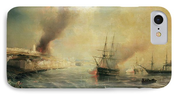 Bombardment Of Sale Phone Case by Jean Antoine Theodore Gudin