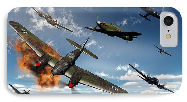 British Hawker Hurricane Aircraft Phone Case by Mark Stevenson