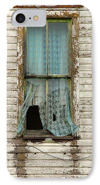 Broken Window In Abandoned House Phone Case by Jill Battaglia