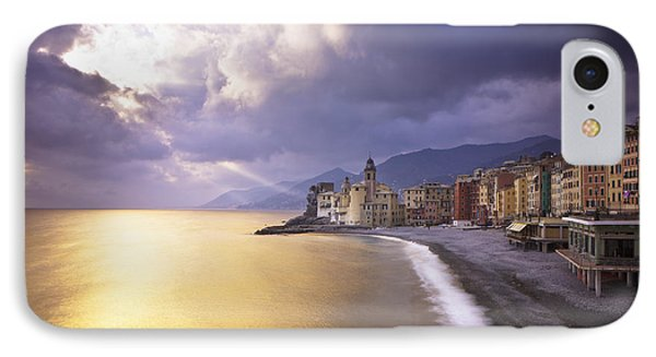 Buildings Along The Coast At Sunset Phone Case by David DuChemin
