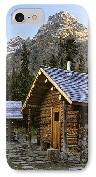 Cabin In Yoho National Park, Lake Phone Case by Ron Watts