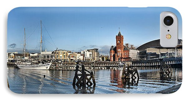 Cardiff Bay Panorama IPhone Case by Steve Purnell