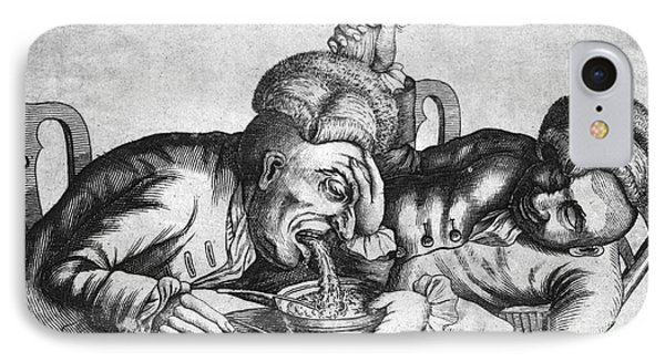 Caricature Of Two Alcoholics, 1773 Phone Case by Science Source