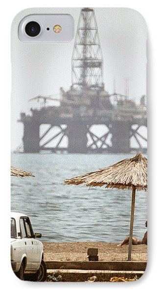 Caspian Sea Oil Rig Phone Case by Ria Novosti