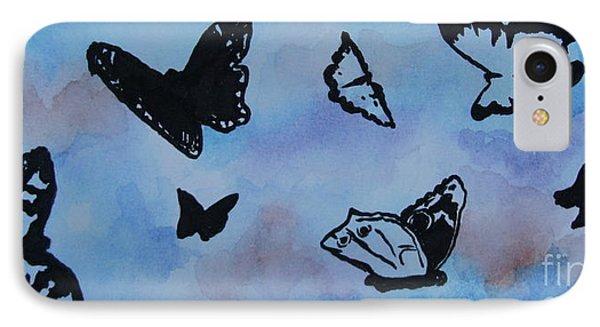 Chasing Butterflies IPhone Case by Jan Bennicoff