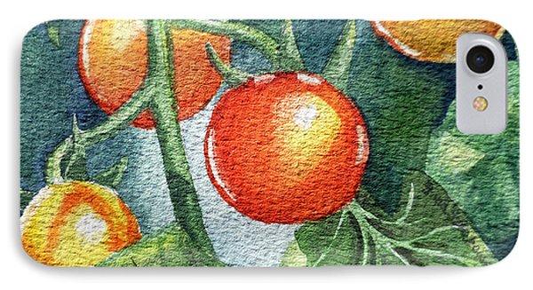 Cherry Tomatoes IPhone Case by Irina Sztukowski