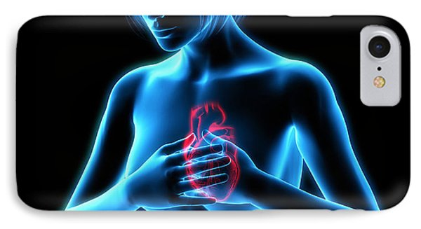 Chest Pains Phone Case by Roger Harris