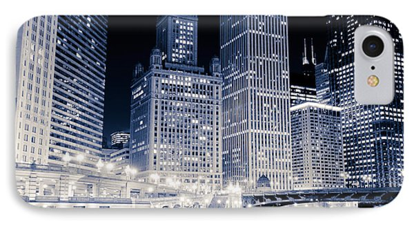 Chicago Downtown At Night IPhone Case