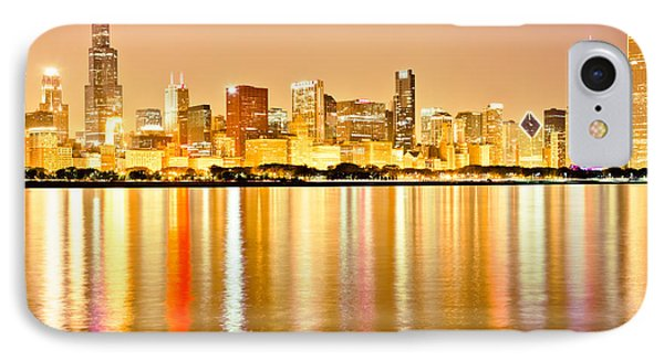 Chicago Skyline At Night Photo IPhone Case by Paul Velgos