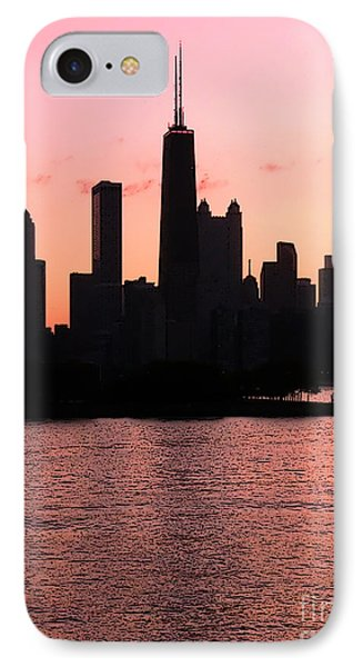 Chicago Skyline Cartoon Phone Case by Sophie Vigneault
