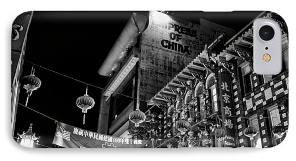 Chinatown At Night Phone Case by Tanya Harrison