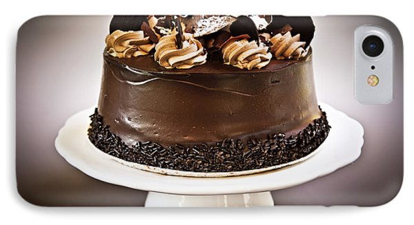 Chocolate Cake IPhone Case by Elena Elisseeva
