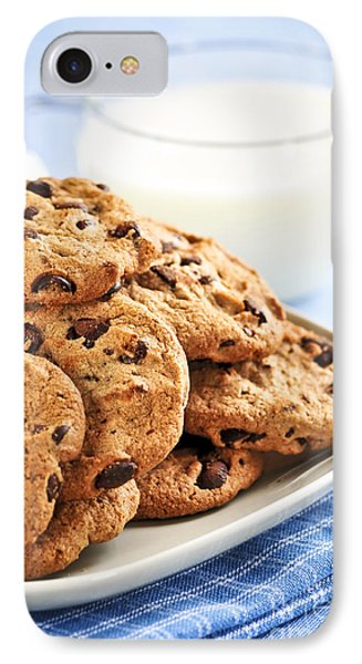 Chocolate Chip Cookies And Milk IPhone Case by Elena Elisseeva