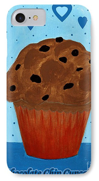 Chocolate Chip Cupcake Phone Case by Barbara Griffin