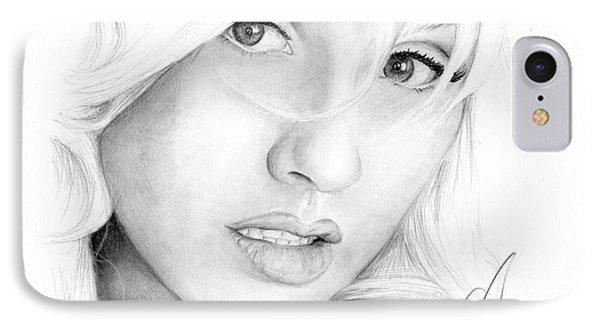 Christina Aguilera Phone Case by Rosalinda Markle