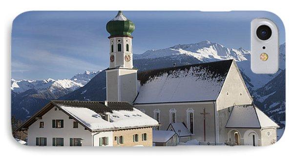 Church In Winter Phone Case by Matthias Hauser
