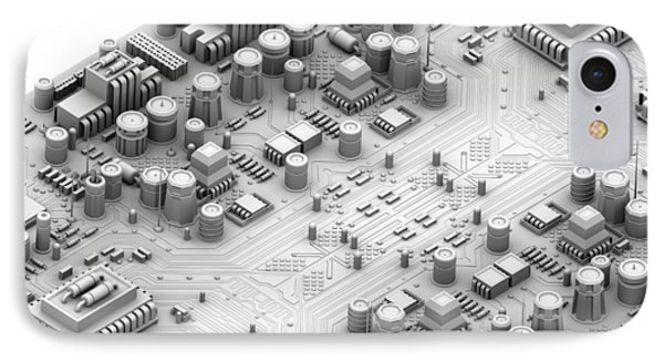 Circuit Board, Artwork IPhone Case by Pasieka