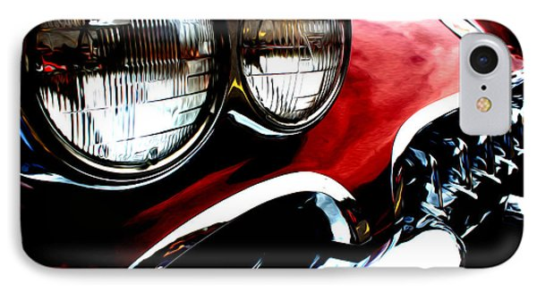 IPhone Case featuring the digital art Classic Vette by Tony Cooper