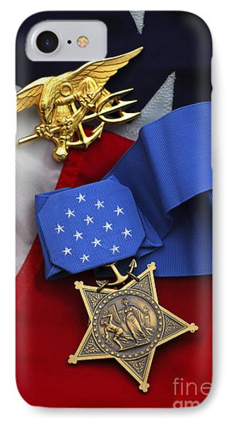 Close-up Of The Medal Of Honor Award Phone Case by Stocktrek Images
