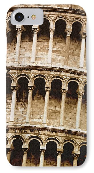 Closeup Of The Leaning Tower Of Pisa IPhone Case by Carson Ganci