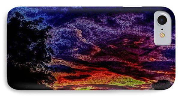 Cloudy Night IPhone Case by Austin Engel