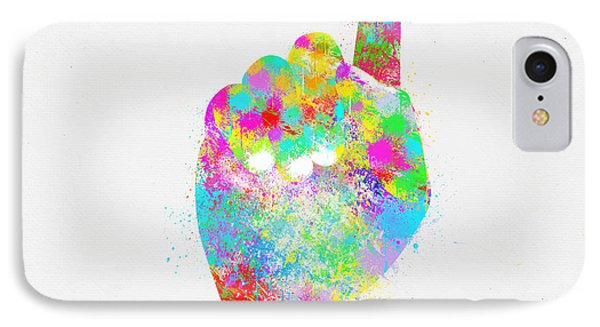 Colorful Painting Of Hand Pointing Finger Phone Case by Setsiri Silapasuwanchai