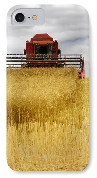 Combine Harvester, North Yorkshire Phone Case by John Short