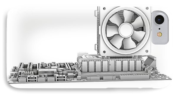 Computer Motherboard, Computer Artwork IPhone Case