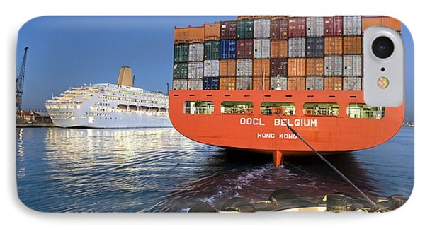 Container Ship Phone Case by Paul Rapson