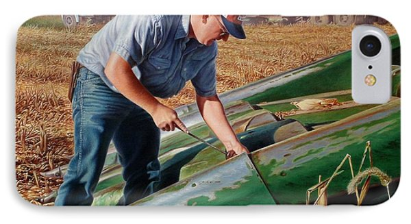 Corn Harvest Phone Case by Hans Droog