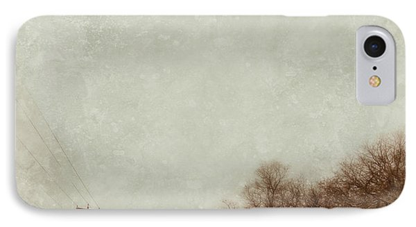 Country Road In Snow Phone Case by Jill Battaglia