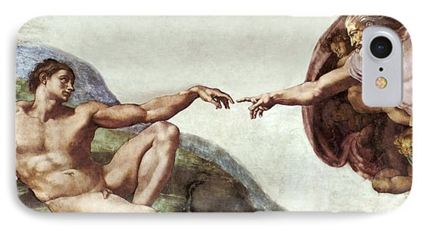 Creation Of Adam IPhone Case by Sheila Terry