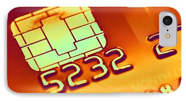 Credit Card Microchip, Computer Artwork Phone Case by Pasieka