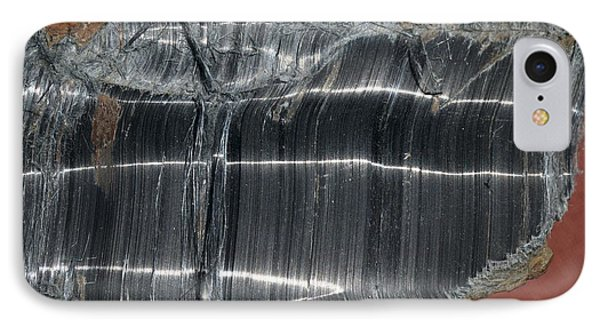 Crocidolite Asbestos Mineral IPhone Case by Dirk Wiersma